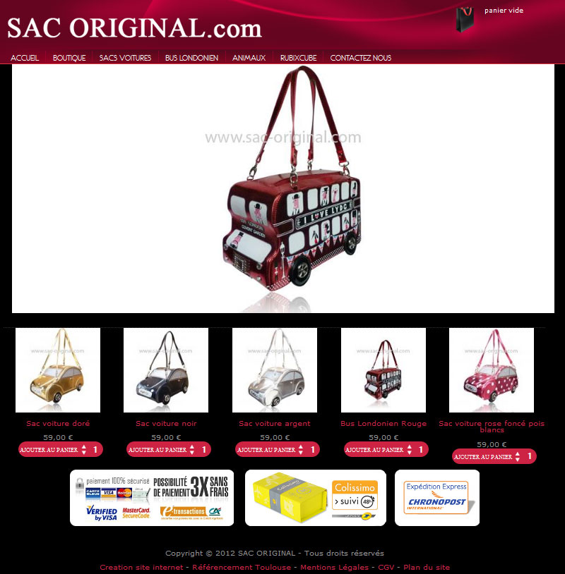 Site Internet Sac Original