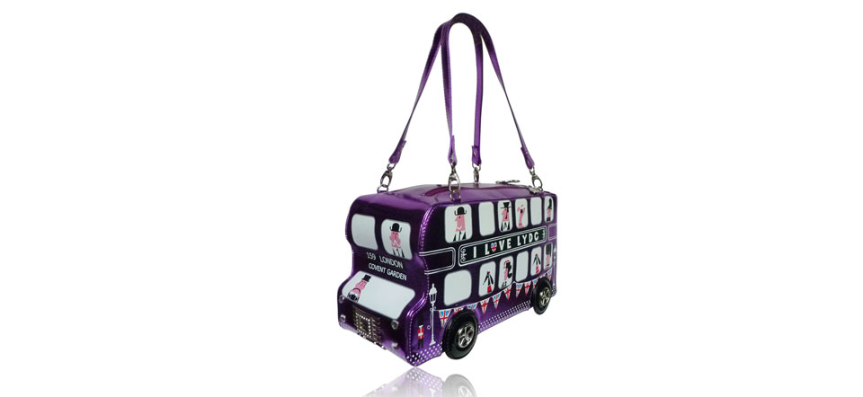Sac original bus Londonien violet