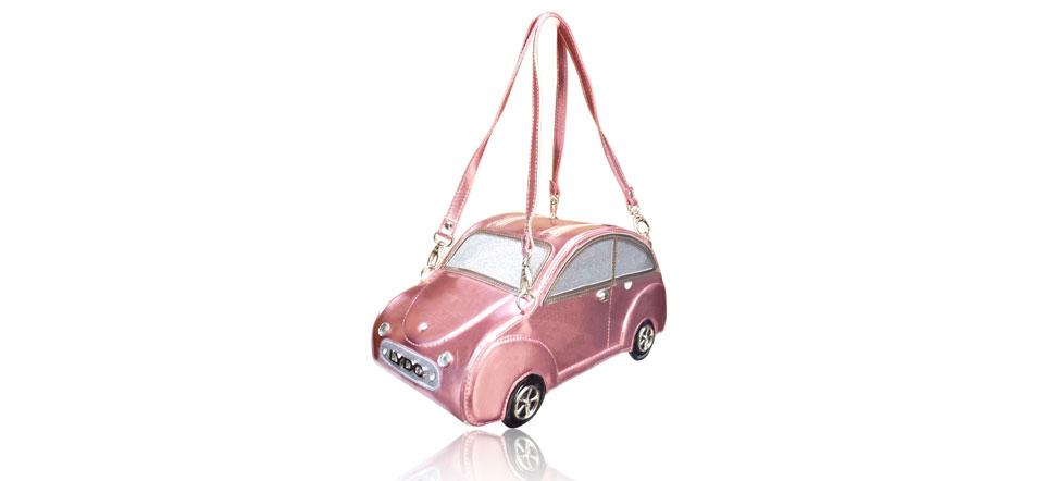 Sac original voiture rose clair